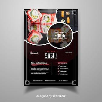 Dépliant photographique de restaurant chinois