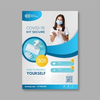 Dépliant sur les produits médicaux contre le coronavirus
