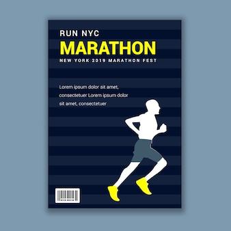 Dépliant publicitaire de course à pied marathon