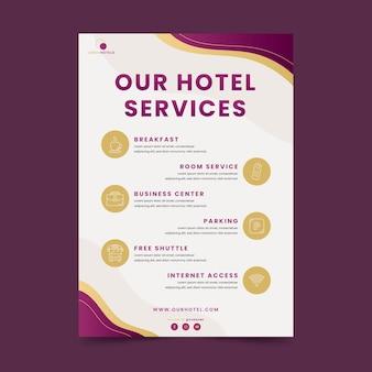Dépliant des services hôteliers modernes