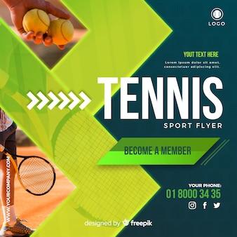 Dépliant de tennis