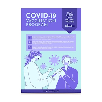 Dépliant de vaccination contre le coronavirus biologique