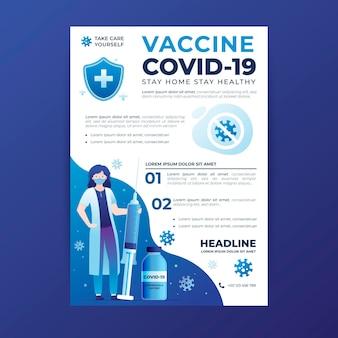 Dépliant de vaccination contre le coronavirus dégradé
