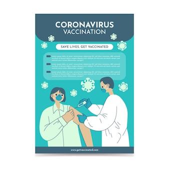 Dépliant de vaccination contre le coronavirus design plat organique