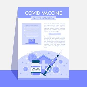 Dépliant de vaccination contre le coronavirus