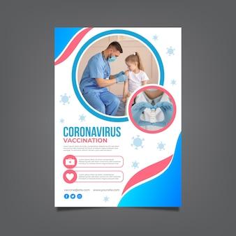 Dépliant de vaccination gradient covid19