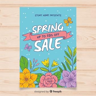 Dépliant de vente de printemps