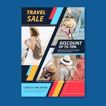 Dépliant de vente de voyage