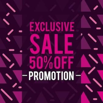Dépliant de ventes, promotions et réductions et bannière