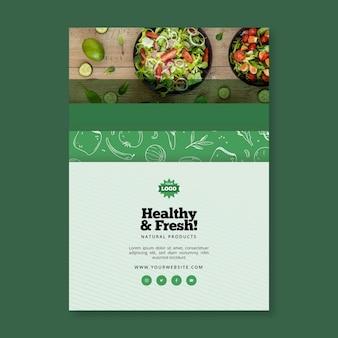 Dépliant vertical sur les aliments bio et sains