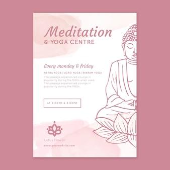 Dépliant vertical de méditation et de pleine conscience