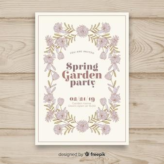 Dépliant vintage garden party