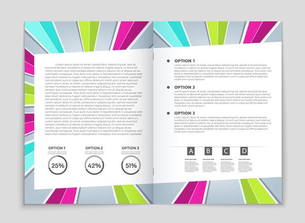Dépliants d'entreprise, modèle de brochure.