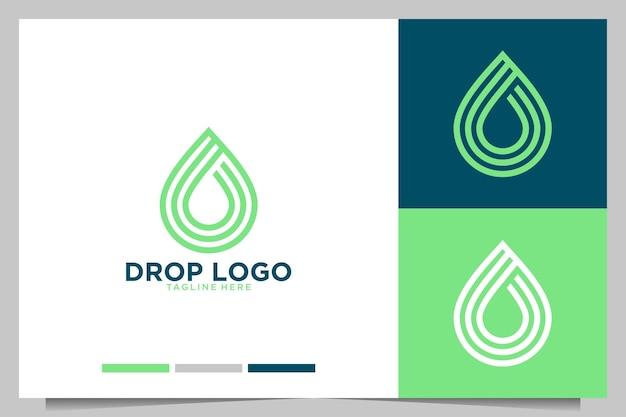 Déposez la conception de logo moderne
