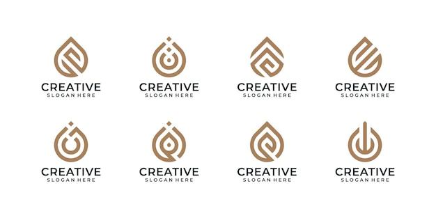 Déposez le paquet d'icônes de logo moderne de technologie élégante