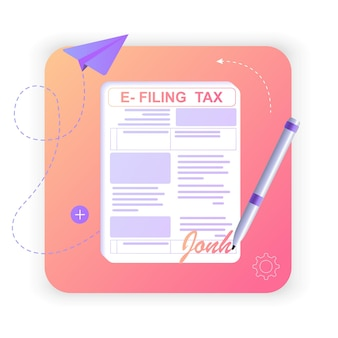 Dépôt et paiement de l'impôt sur le revenu avec des formulaires en ligne déclaration fiscale numérique avec l'application de factures fiscales eform