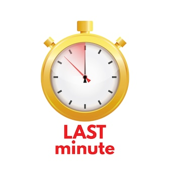 Dernière minute, concept de date limite. illustration vectorielle.