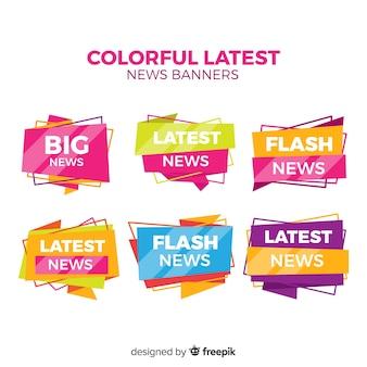 Dernières bannières colorées