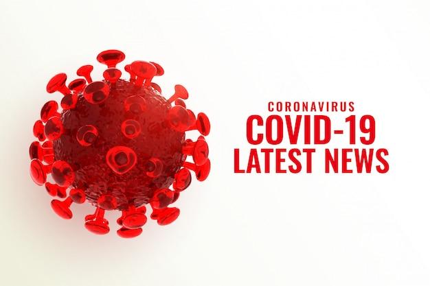 Dernières Nouvelles Et Mises à Jour Du Coronavirus Covid-19 Vecteur gratuit