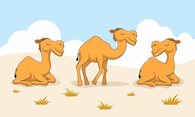 Désert de dessin animé chameau