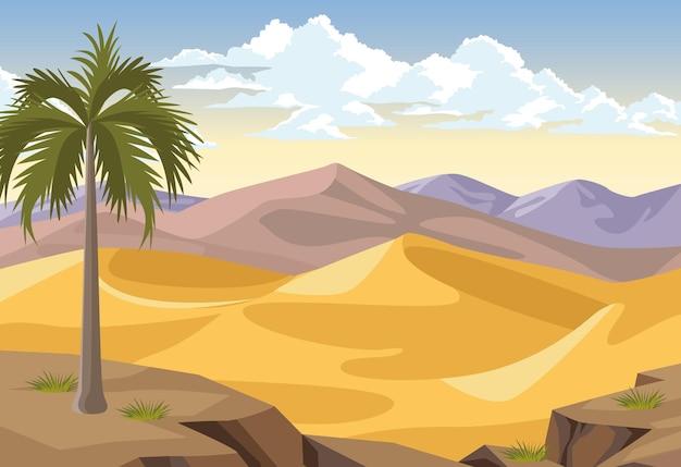 Désert avec palmier