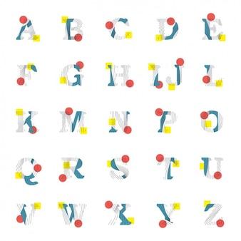 Design abstract alphabet