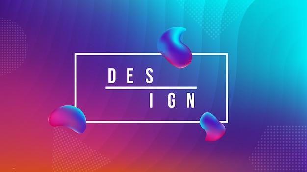 Design abstrait coloré