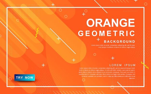Design abstrait dynamique orange
