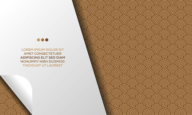 Design abstrait moderne d'arrière-plan de motif de conception géométrique de cercles bruns de luxe avec le modèle de texte