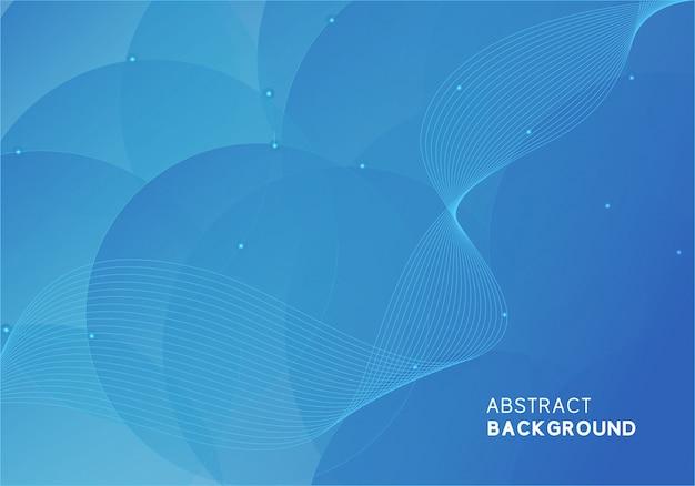 Design abstrait moderne bleu