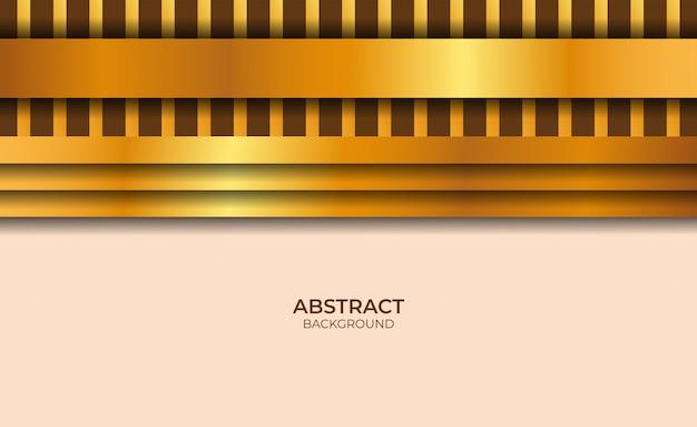 Design abstrait rose clair et fond d'or