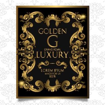 Design d'affiche de luxe