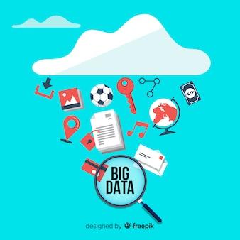 Design d'arrière-plan plat big data