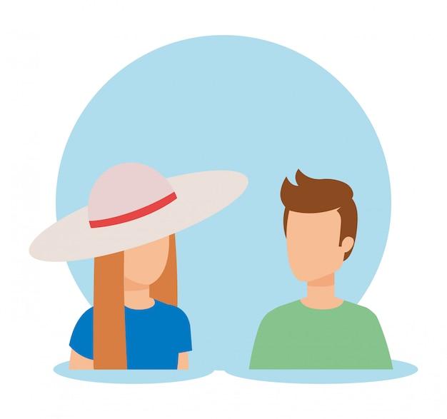 Design avatar femme et homme