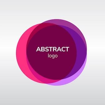Design de badge abstrait en rose