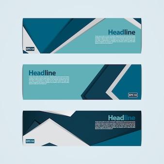 Design de bannière bleue et verte