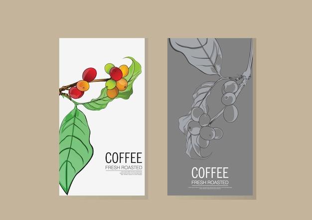 Design de la branche café 2 couleurs
