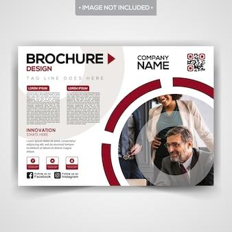 Design de brochure avec couverture de magazine élégante