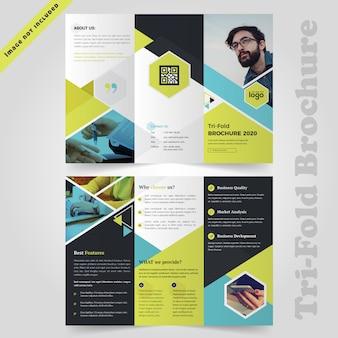 Design de brochures à trois volets coloré