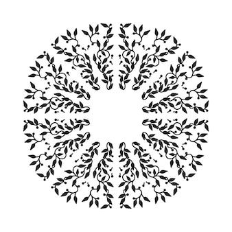 Design de cadre abstrait de couleur noire