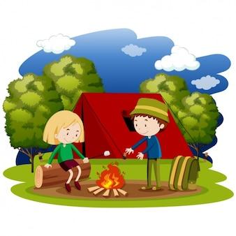 Design camping de fond