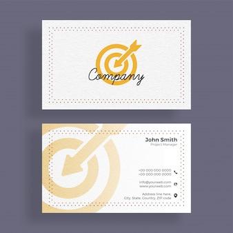 Design de carte d'affaires élégant pour vos besoins d'entreprise.