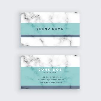 Design de carte de visite en marbre de couleur pastel
