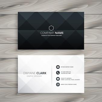 Design de carte de visite noir et blanc moderne