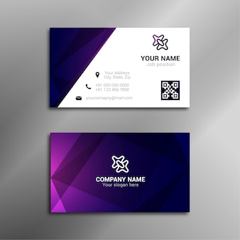 Design de carte de visite pourpre élégant