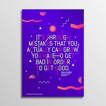Design célèbre cite la typographie