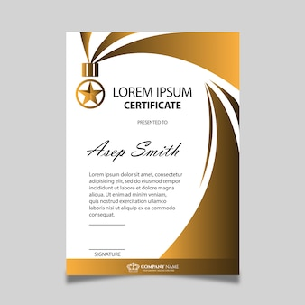 Design de certificat d'or