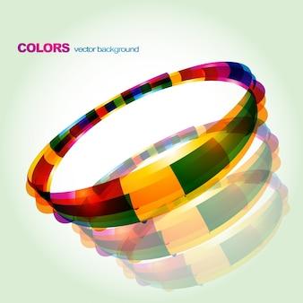 Design circlique eps10 coloré abstrait