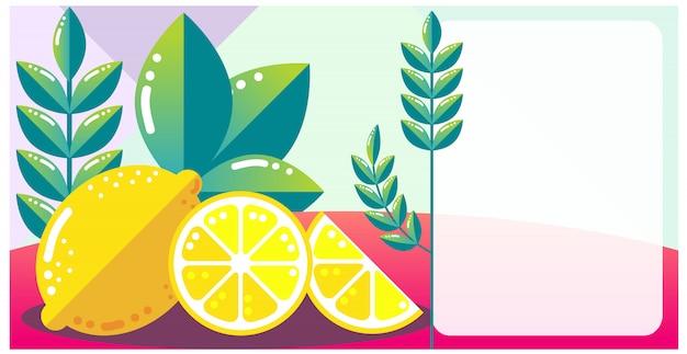 Design citron plat