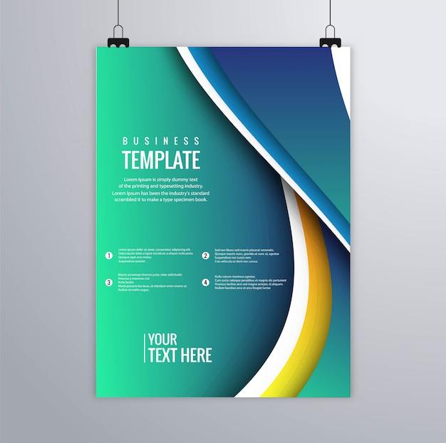 Design coloré de belle vague buisness flyer template